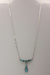 6 Stone Kingman Turquoise Necklace - N2494 - SOLD