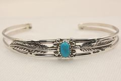 Turquoise Feather Bracelet - BR1756