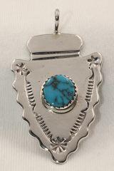 Arrowhead & Turquoise Pendant - P1872