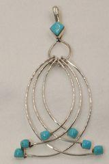 6 Loop Sleeping Beauty Turquoise Pendant - P1361