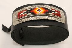 Men's Leather Beaded Bracelet - BR1870 - SOLD