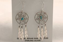 Dream Catcher Earrings with Feathers - ER1255