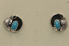 Turquoise & Leaf Earrings - ER714