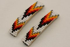 Set of 2 Beaded Hair Barrettes - HC567