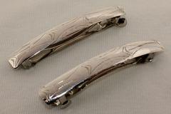 Set of 2 Silver Hair Barrettes - HC991