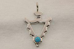 Arrowhead & Turquoise Pendant - P1254