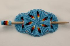 Large 4 Inch Beaded Hair Piece - HP1417