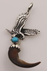 Eagle and Coyote Claw Pendant - P1140 - SOLD