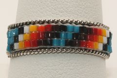 3 Row Beaded Split Shank Ring - R855