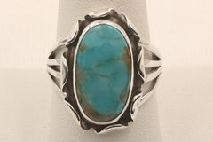 Crow Springs Mine Turquoise Ring - R2644