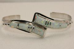 Wishbone Style Opal Inlay Bracelet - BR5102