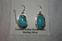 Number 8 Mine Turquoise Earrings - N8044
