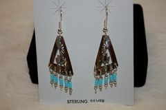 Sterling Silver Cutout Earrings - ER108 - SOLD