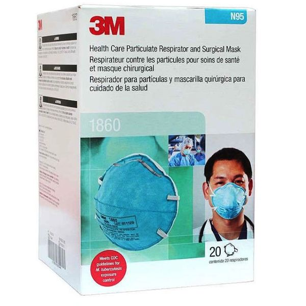 3m 1860s medical mask n95 20 count
