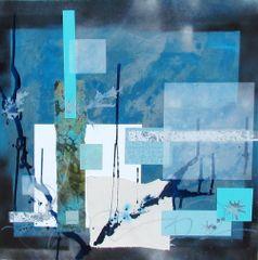 Atlantis - 30 x 30 - mixed media