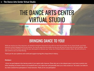 photo of The Dance Arts Center Virtual Studio