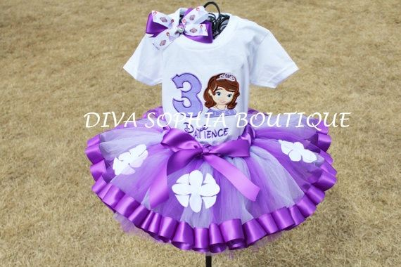 "/""Sofia The First/"" Personaliz​ed T-Shirt and Pink Tutu Set NEW"