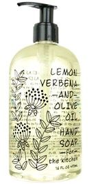 LEMON VERBENA AND OLIVE OIL HAND SOAP | For The Kitchen