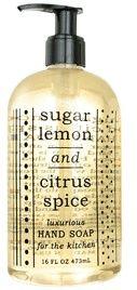 SUGAR LEMON & CITRUS SPICE HAND SOAP | For The Kitchen