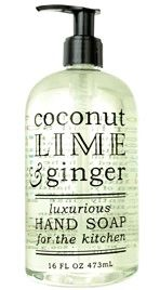 COCONUT, LIME & GINGER HAND SOAP | For The Kitchen