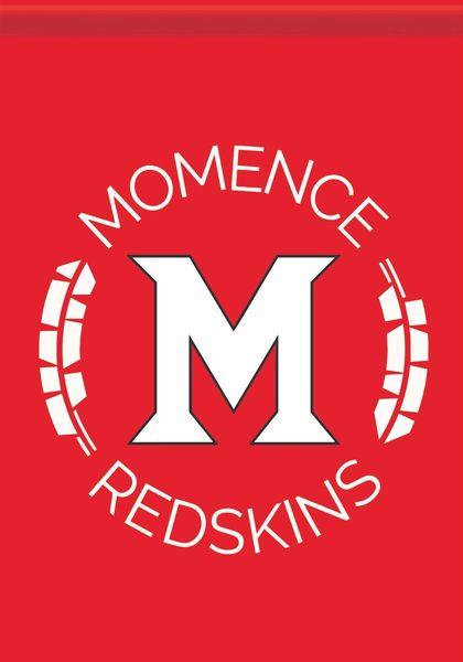 Momence Redskins M Garden Flag