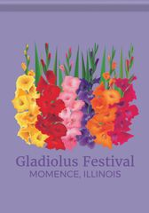 Momence Gladiolus Festival Garden Flag