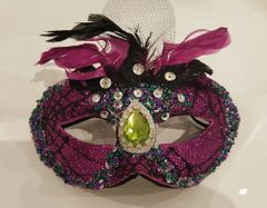 Black & Purple Glitter Mask