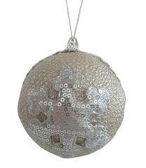 Ivory Champagne Christmas Ornament