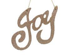 Joy Glitter Tree Ornament