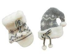 Knit Mitten & Cap Christmas Tree Ornament
