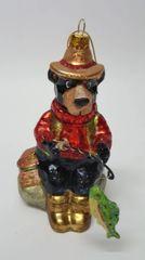 Fishing Bear Christmas Ornament