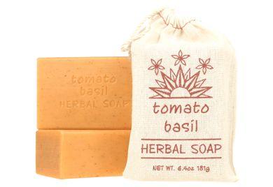 HERBAL SOAP - TOMATO BASIL