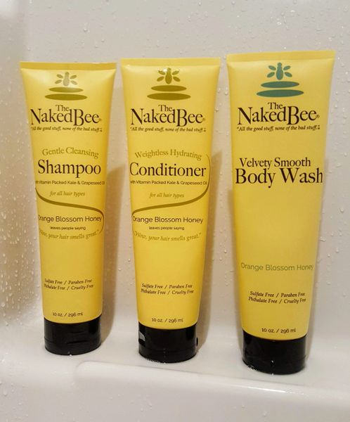 Shampoo, Conditioner, Body Wash Shower Set