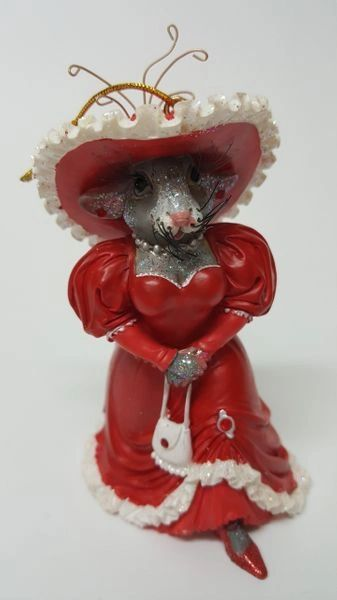 Southern Belle Mouse Christmas Ornament