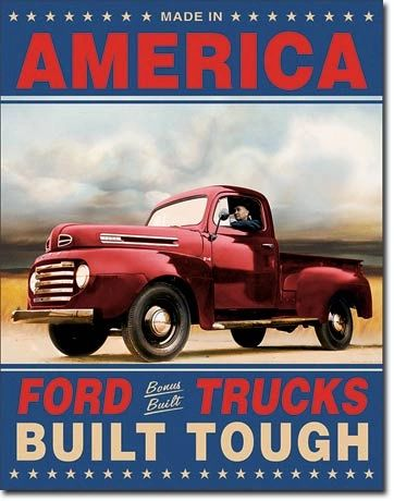 Ford Trucks Vintage Metal Sign