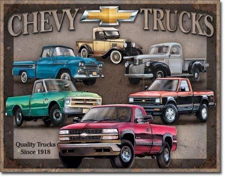 Chevy Trucks Vintage Metal Sign