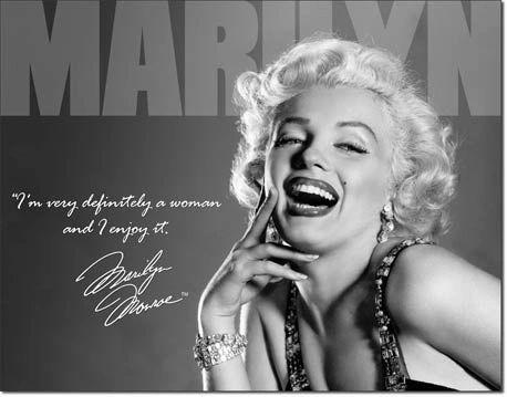 Marilyn Monroe Metal Sign