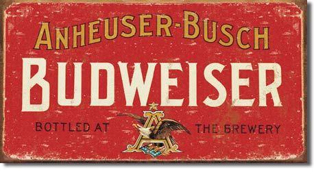 Budweiser Vintage Metal Sign