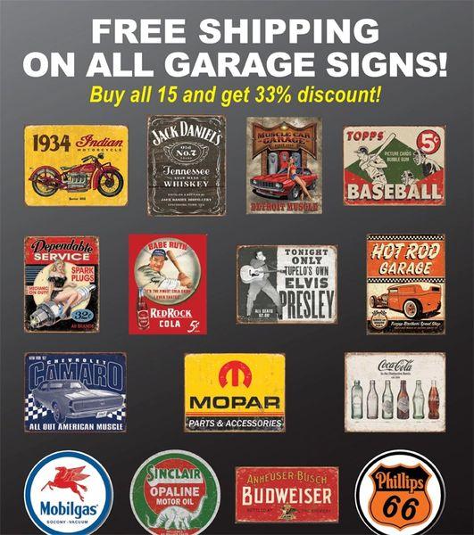 Garage Signs Value Package J