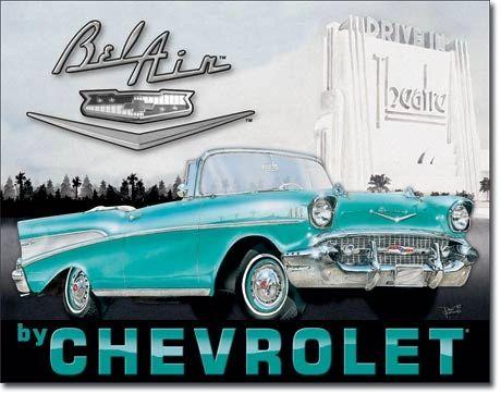 1957 Chevrolet Bel Air Metal Sign