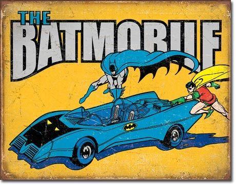 The Batmobile Metal Sign from DC Comics