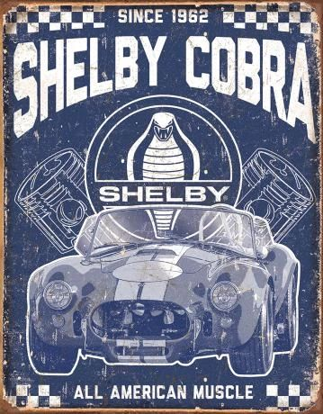 Shelby Cobra Since 1962 - All American Muscle Metal Sign