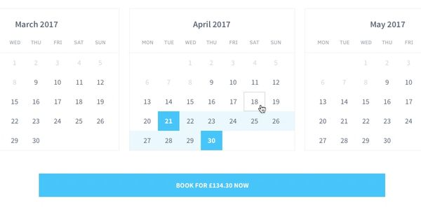 Booking Engine Date Calendar