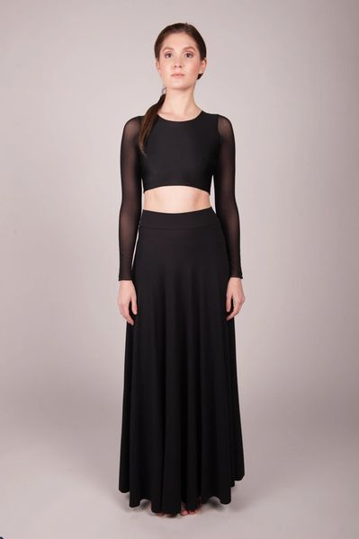 Orgotton Half Circle Maxi Skirt (Black)