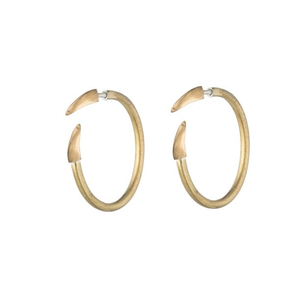 Natalie Frigo Medium Claw Hoops