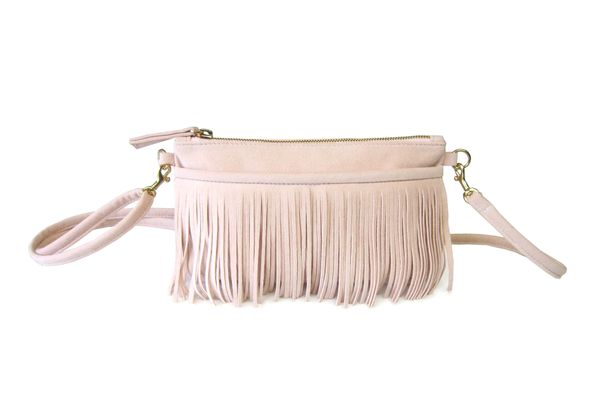 Hipsters for Sisters Fringe Belt Bag (Nude)