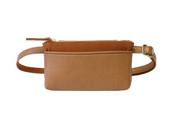 Hipsters For Sisters Pocket Bum Bag (Saddle)