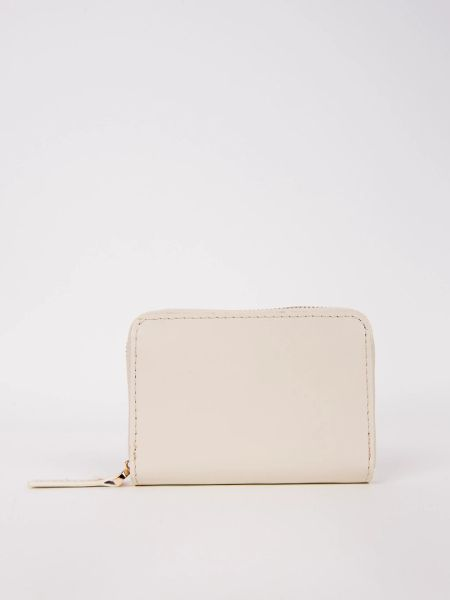 PaperThinks recycled leather Coin Wallet (Ivory)