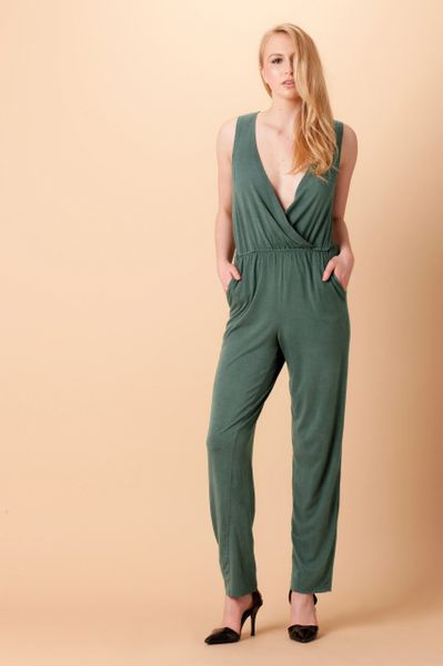 Orgotton Jumpsuit w/Back Cutout