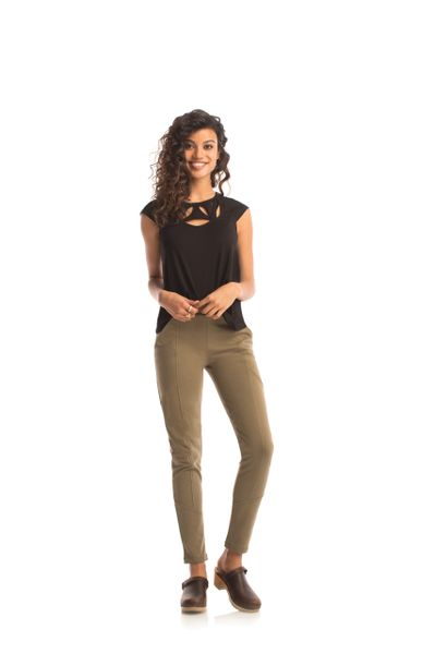 Synergy Organic Cotton Charger Skinny Pants (Burnt Olive)
